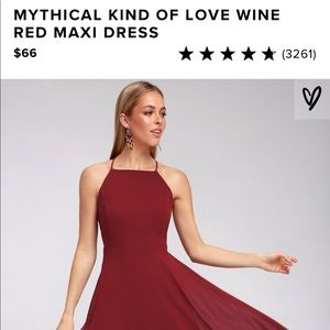 LULUS - Wine Red Maxi Dress - Size XL